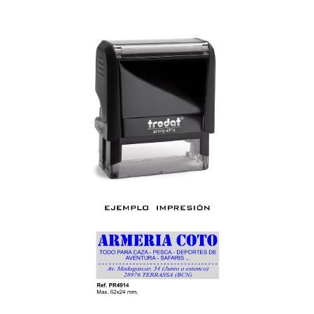 Sello de goma Automático Trodat 4914