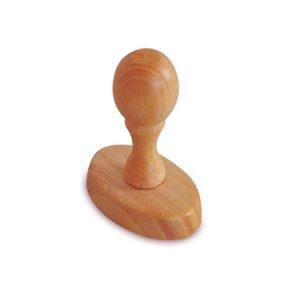 Sello de goma de madera ovalado