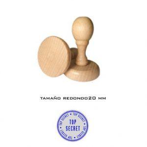 Sello de goma de madera redondo 20 mm