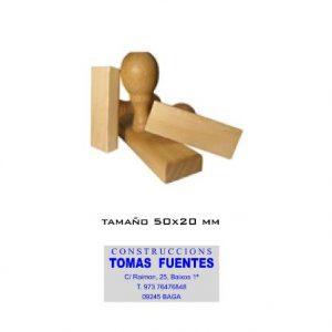 Sellos de goma de madera. 50x20
