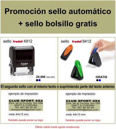 Promoción Sello Automático con Sello de Bolsillo gratis -Publi