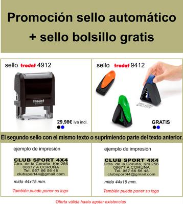Promoción Sello Automático con Sello de Bolsillo gratis