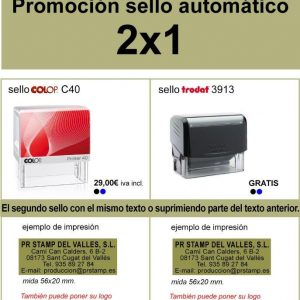 Promoción Sellos Automáticos Colop C40 913 y Trodat 3913.