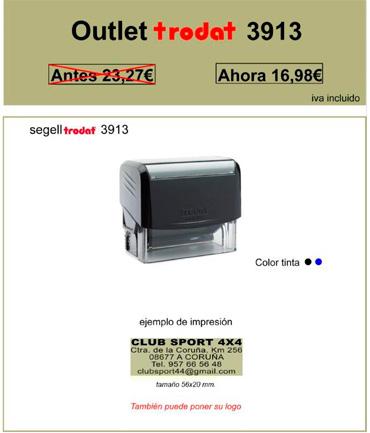 Oferta Outlet Sello de goma automático Trodat 3913 Móvil
