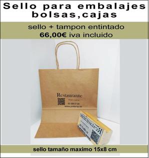 Sellos de goma para embalajes y bolsas de Comercios y Restaurantes. Home